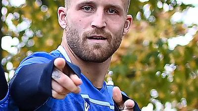 Bereit für Braunschweig: KSC-Torjäger Philipp Hofmann ist vor dem Gastspiel mit den Badenern bei seinem niedersächsischen Ex-Club guter Dinge.