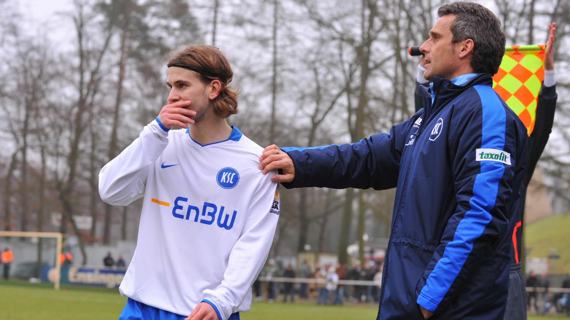 Es war kompliziert: Das Verhältnis zwischen Gaétan Krebs und dem Trainer Markus Schupp war zu keiner Zeit der Zusammenarbeit das beste.