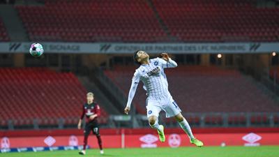 Nach der Pause gesteigert: Kyong-Rok Choi tat sich, wie seine Mitspieler, im leeren Nürnberger Stadion lange schwer, Akzente zu setzen.