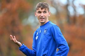 Zuletzt mit Aufwärtstrend: Benjamin Goller brachte auch in Würzburg Angriffsschwung über die rechte Seite des KSC und darf für das Spiel gegen Fürth erneut mit seiner Berücksichtigung rechnen.