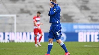 Nach Abpfiff enttäuscht: Philipp Hofmann wusste, dass für den KSC gegen Heidenheim mehr drin war in einem Spiel, das er hätte vorentscheiden können.