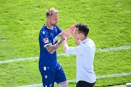 Machtwort beim KSC: Philipp Hofmann soll in der neuen Saison KSC-Trainer Christian Eichner definitiv zur Verfügung stehen.