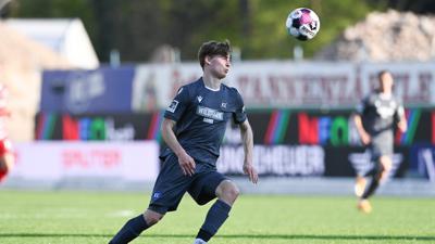 Torschütze gegen Würzburg: Mit einem Abstauber hatte Dominik Kother den Karlsruher SC am Freitagabend mit 2:1 in Führung gebracht.