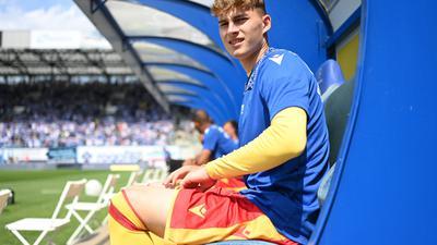 Denkzettel: Selbst auf der Bank fehlte Dominik Kother gegen Bremen - und das trotz Unterbesetzung im Kader des KSC.