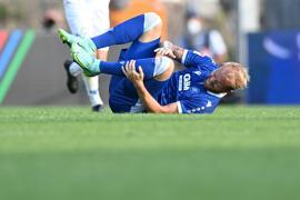 Verletzt vor Anbruch der Schlussphase: Der zweifache Torschütze Philipp Hofmann verletzt sich am linken Oberschenkel und musste raus.