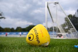 Testspiel ausgefallen: Unter sich blieben die KSC-Profis am Donnerstagmittag im Grenke-Stadion. Testspielgegner SV Waldhof musste absagen.