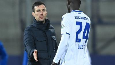 Zurück beim Team: Babacar Guye, den eine Corona-Erkrankung in den vergangenen Wochen außer Gefecht gesetzt hatte, darf ab diesem Mittwoch wieder beim Karlsruher SC mittrainieren.