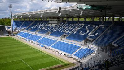 Das neue Stadion des KSC im Wildpark