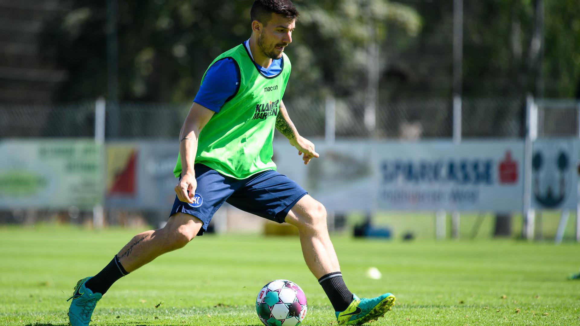 Der neue KSC-Kapitän: Der gebürtige Karlsruher Jérome Gondorf führt die Mannschaft in der neuen Saison an.