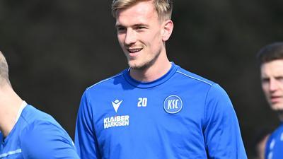 Positiv getestet: KSC-Mittelfeldspieler Alexander Groiß sorgte für den nächsten Corona-Fall beim Karlsruher SC in der laufenden Woche.