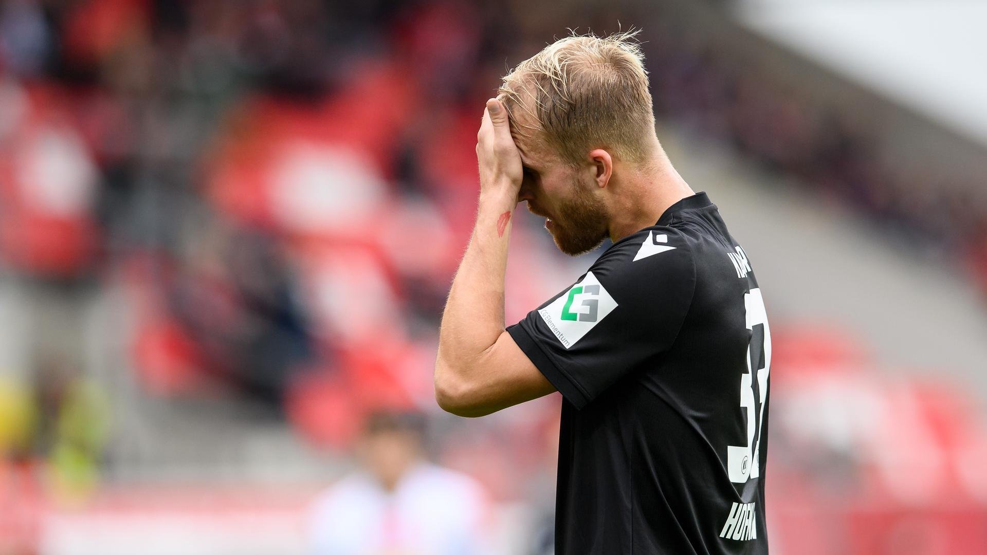 Glücklos: Philipp Hofmann war bei seinem Auftritt in Regensburg längst noch nicht der Alte. Der KSC-Stürmer vergab die Strafstoßchance zum Ausgleich.