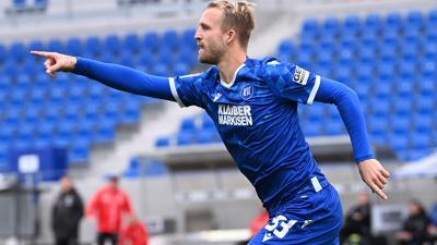 Der Tore-Eröffner: Philipp Hofmann hat sich beim KSC als präsenter Stressfaktor für die Gegner zurückgemeldet.