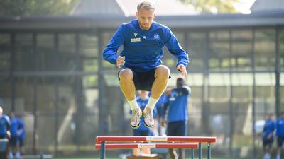 Auf dem Sprung: Mit einem torgefährlichen Philipp Hofmann hat der SV Sandhausen am Samstag zu rechnen.