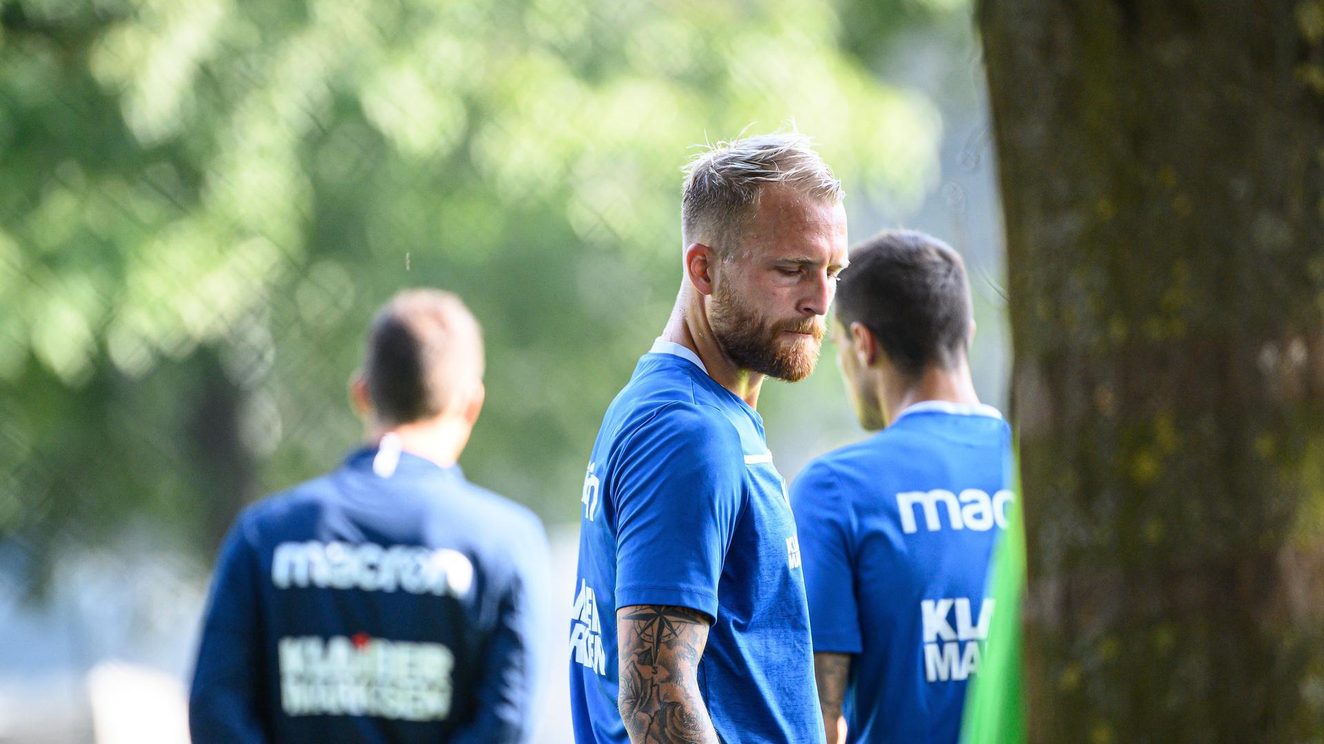 Philipp Hofmann (KSC) .  GES/ Fussball/ 2. Bundesliga: Karlsruher SC - Training,  22.09.2020  Football/Soccer: 2. Bundesliga:  KSC Trainingsession, Karlsruhe, September 22, 2020