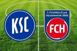 Der KSC empfängt den 1. FC Heidenheim.