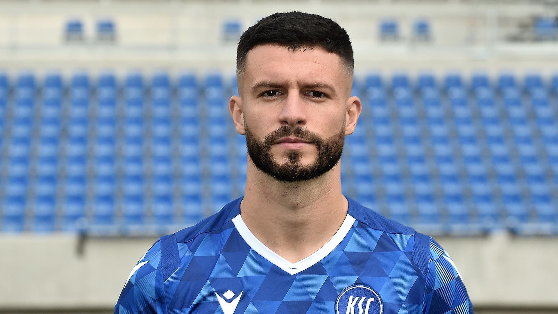 KSC Spieler Marco Djuricin aus der Saison 2020/2021