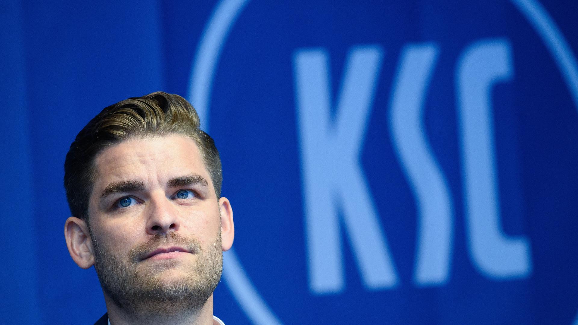 Michael Becker (Geschäftsfuehrer Karlsruher Sport-Club Muehlburg-Phoenix GmbH & Co. KGaA).  GES/ Fussball/ 2. Bundesliga: Karlsruher SC, Pressekonferenz Haupt- und Brustsponsor CG Elementum, 05.07.2021