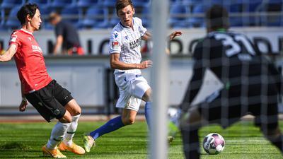 Benjamin Goller zeigte auch beim Zweitliga-Auftakt des Karlsruher SC in Hannover wieder einen engagierten Auftritt.