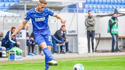 Auf dem Vormarsch: Innenverteidiger Christoph Kobald sieht sich mit dem Karlsruher SC auf einem Weg der Besserung.