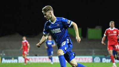 Dominik Kother (KSC).  GES/ Fussball/ DFB-Pokal: Karlsruher SC - 1. FC Union Berlin, 12.09.2020  Football / Soccer: DFB-Cup: KSC vs Union Berlin, Location, September 12, 2020