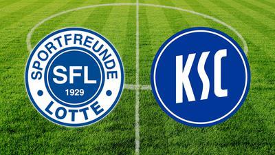 Im ersten Pokalspiel trifft der KSC auf Sportfreunde Lotte.