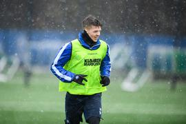 Marvin Wanitzek (KSC), Portrait, Porträt, Kopfbild, Kopf.  GES/ Fussball/ 2. Bundesliga: Karlsruher SC - Training, 12.01.2021  Football/Soccer: 2. Bundesliga: KSC Training, Karlsruhe, January 12, 2021