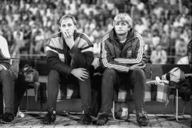 Bankdrücker: Stefan Wimmer (rechts), hier neben Michael Spies, erlebte in der Saison 1987/1988 ein Highlight und viele Enttäuschungen.