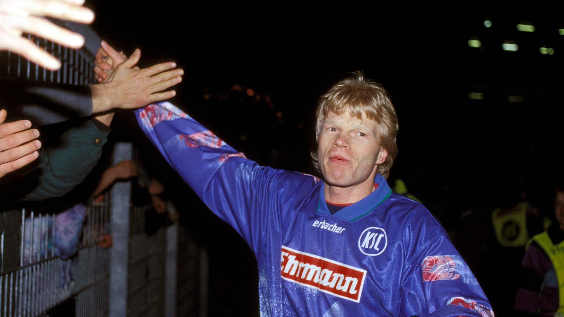 Die Ziele im Blick: Oliver Kahn bereitete beim Karlsruher SC seine große Torwartkarriere vor, während der in München hängen blieb.