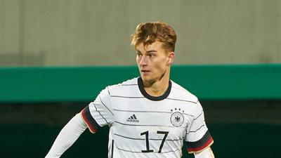 Dominik KOTHER, DFB U21, U 21 Nr.17 GERMANY U21 - BOSNIA HERZEGOVINA 1-0 U 21 European Championship, EM, Europameisterschaft Qualification , Fuerth, October 13, 2020. Season 2020/2021