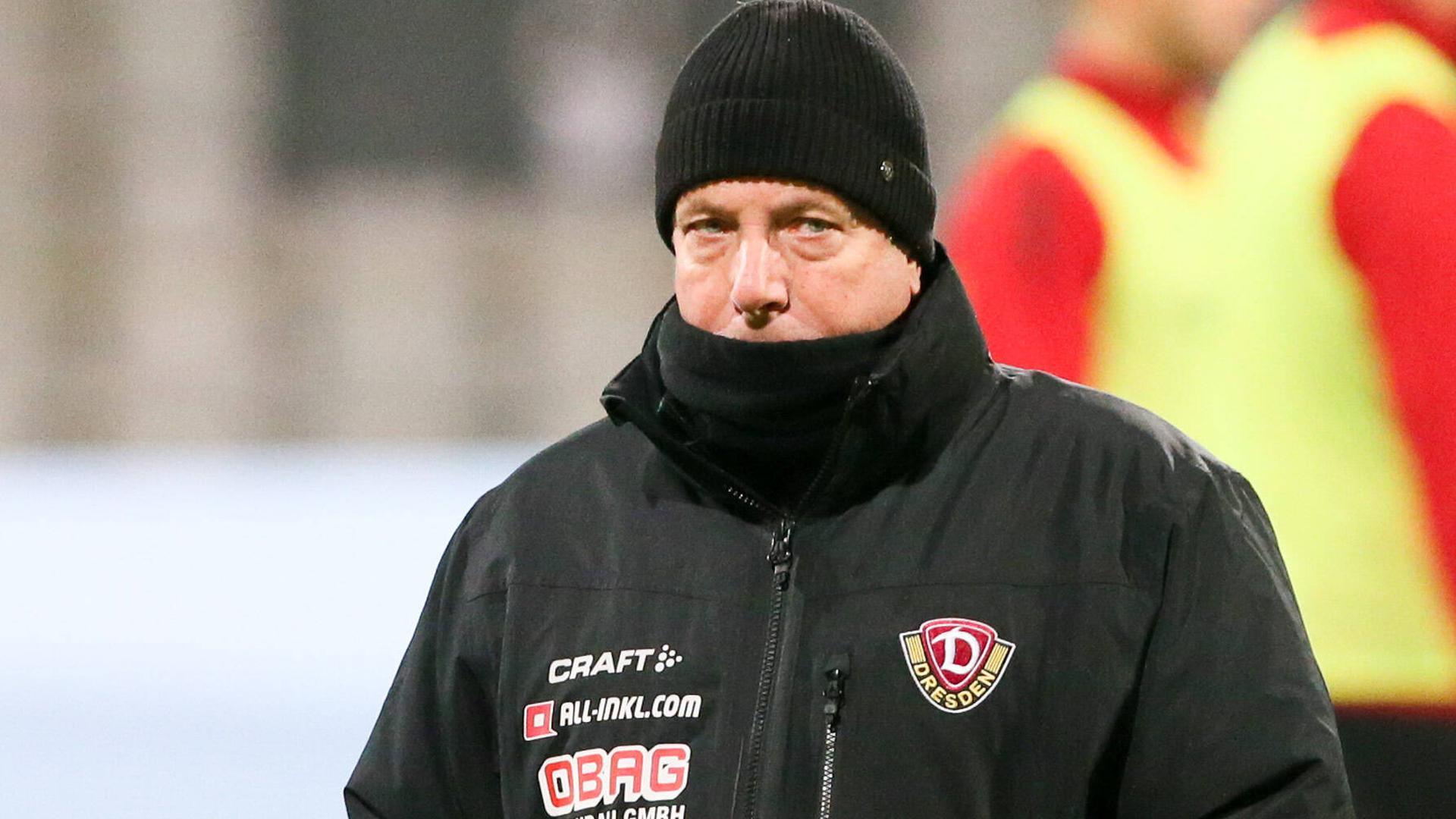 Positiv getestet: Dynamo Dresdens Trainer Markus Kauczinski, früher Chefcoach des KSC, muss für zehn Tage in Quarantäne.