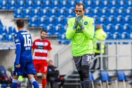 Marius Gersbeck: Der KSC-Torhüter verdiente sich in der ersten Saisonhälfte zusammen mit Mittelstürmer Philipp Hofmann die Bestnote.