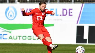 Variabel einsetzbar: Lucas Cueto von Viktoria Köln, der zusammen mit Fabio Kaufmann  als KSC-Neuzugang bestätigt wurde, kann links wie rechts.