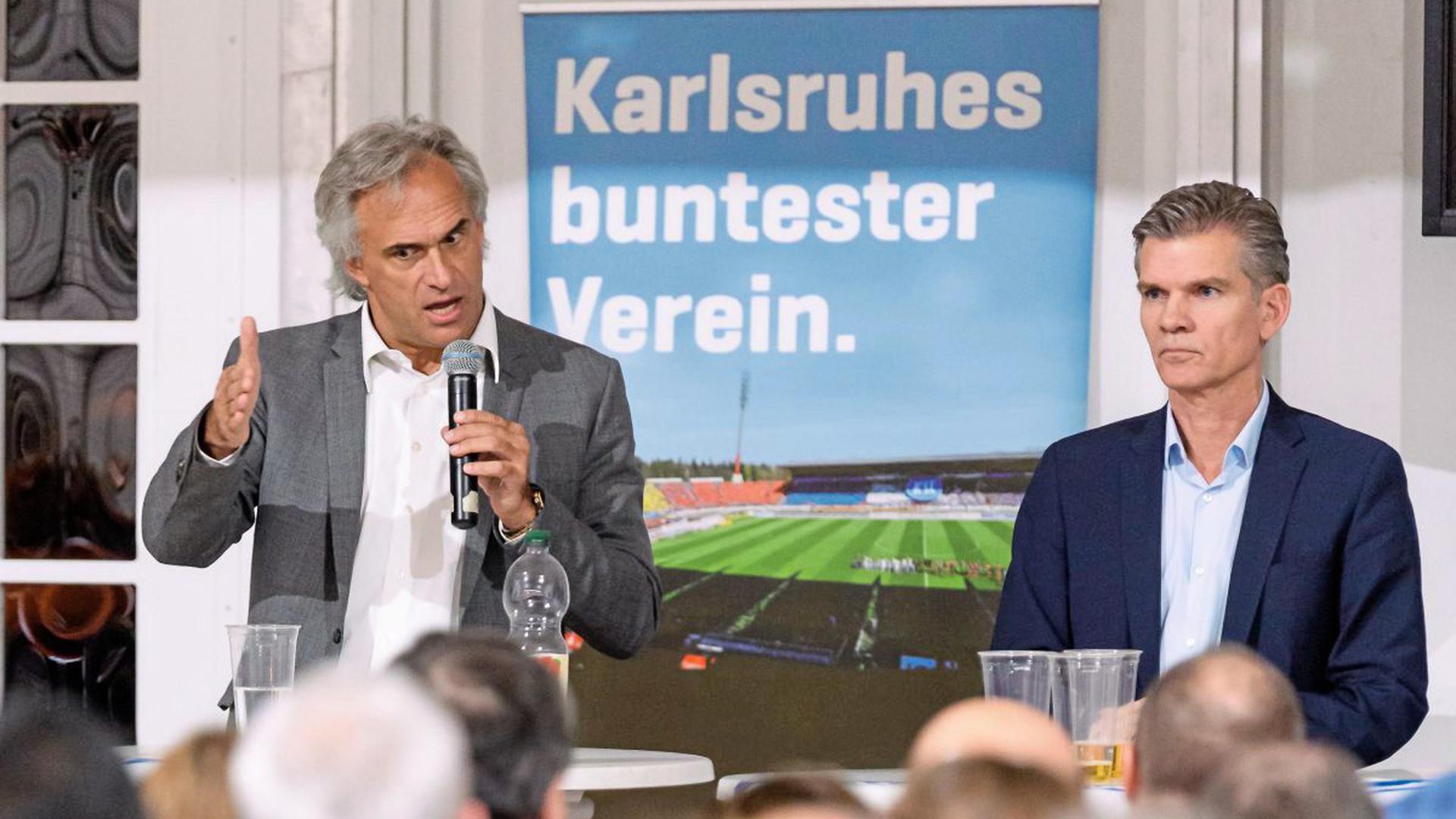 Treffen bei den Fans: Martin Müller (links) und Ingo Wellenreuther