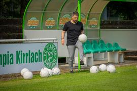 Foto: Simone Kochanek, 10.06.2021, Kirrlach, im Bild: Volkan Glatt, neuer Trainer des FC Olympia Kirrlach