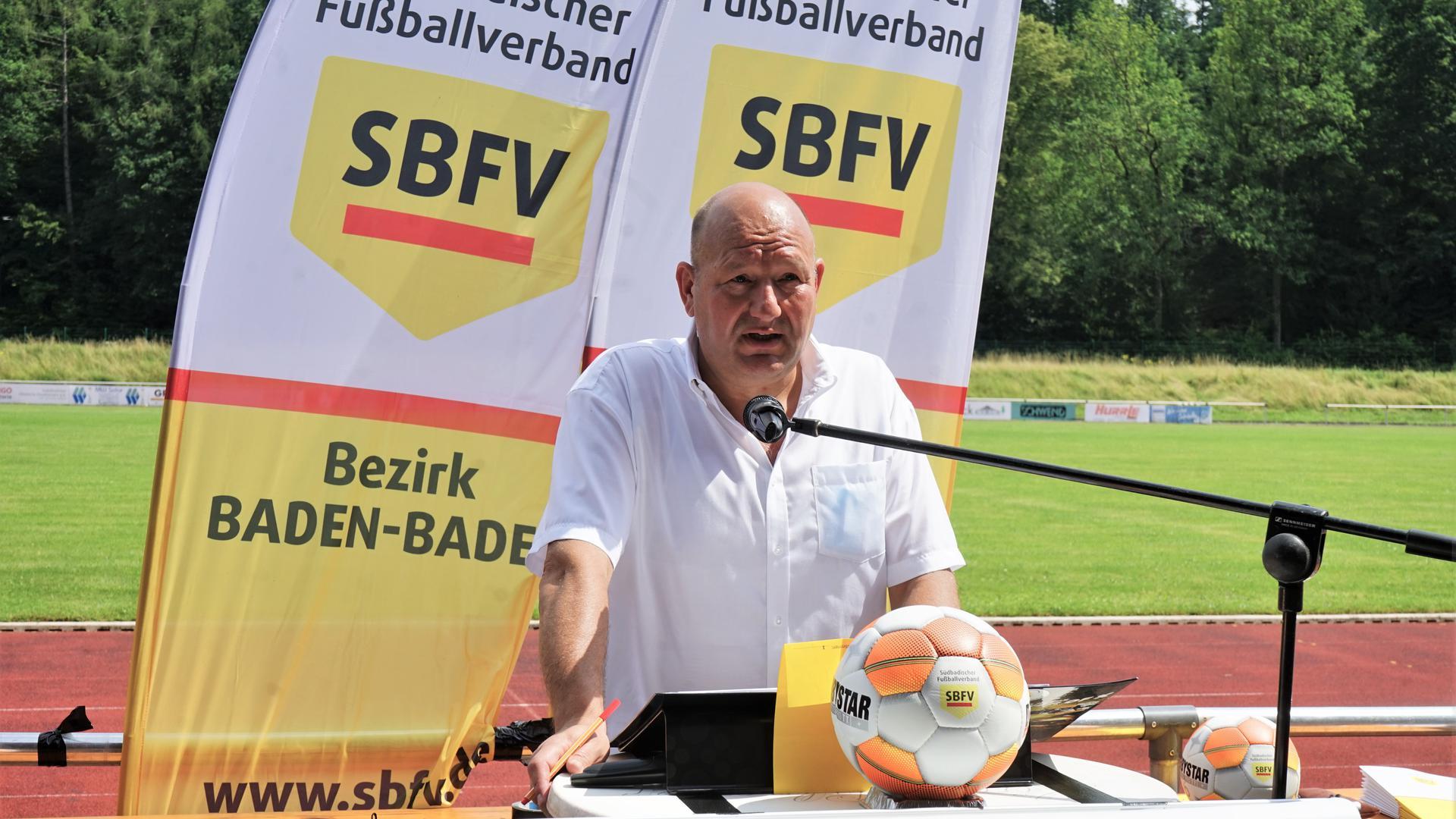Vito Voncina, Vorsitzender des Fußballbezirks Baden-Baden