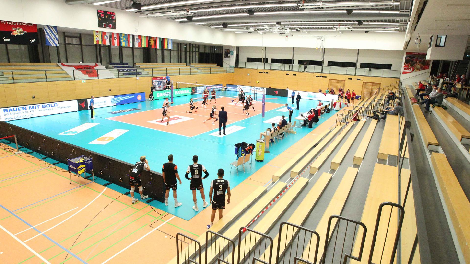 Volleyball-Bundesliga Bisons Bühl - Berlin Volleys (3:1), 31. Oktober 2020