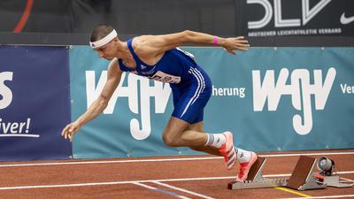 Constantin Preis (VfL Sindelfingen); Deutsche Leichtathletik-Hallenmeisterschaften am 21.02.2021 in der Helmut-Koernig-Halle, Dortmund (Deutschland).