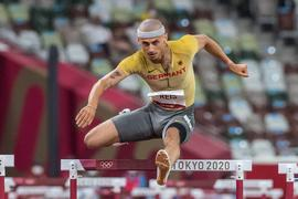 Olympic Games, Olympische Spiele, Olympia, OS 01.08.2021 Constantin Preis of Germany races in the mens 400 m hurdles semi final at the Olympic Games in Tokyo, on Sunday, August 01, 2021 Copyright: xBEAUTIFULxSPORTS/OlafxRellischx