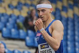 Leichtathletik: Deutsche Meisterschaft: 400m Hürden Männer: Constantin Preis in Aktion. +++ dpa-Bildfunk +++