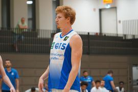 Neu im Lions-Trikot: Der 1,93-Meter große Flügelspieler Leo Behrend, der vom College aus Florida zum Karlsruher Zweitligisten PSK Lions kommt.