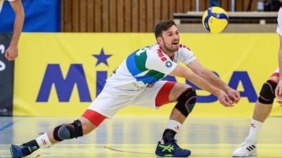 Abwehrstark: Volleys-Libero Benjamin Dollhofer ist eine wichtige Erfolgsstütze im Team des Karlsruher Zweitligisten.