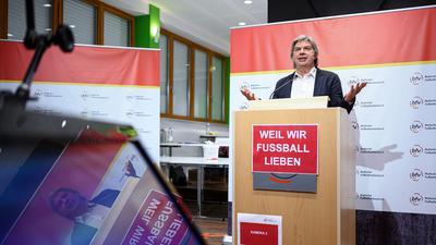 Ronny Zimmermann spricht beim Virtuellen Verbandstag. 39. Ordentlicher Verbandstag Badischer Fußballverband , 28.11.2020