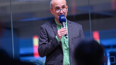 Dr. Andreas Ramin (Sportkreisvorsitzender).  GES/ Sportpolitik/ Festakt 75 Jahre Sportkreis Karlsruhe, 14.10.2021