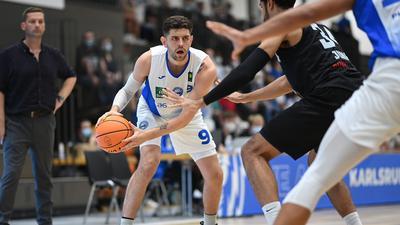 Einzelaktion, Freisteller  Matthew Jon Freeman (Lions).  GES/ Basketball/ ProA: PSK Lions - Kirchheim Knights 25.09.2021