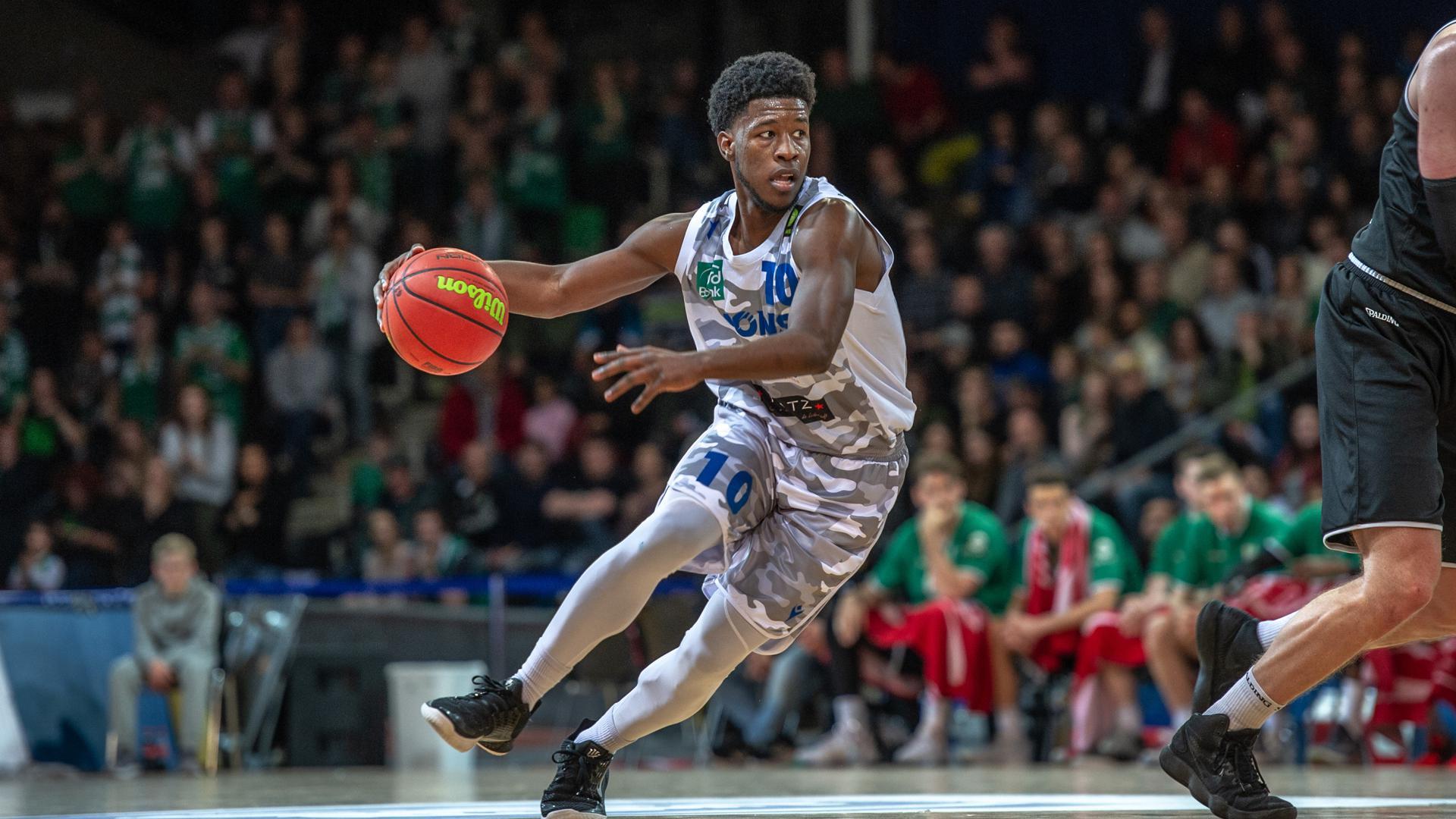 KC Ross-Miller (Lions)  GES/ Basketball/ ProA: PSK Lions - Gladiators Trier, 04.01.2020 --