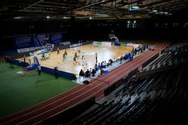 Uebersicht Europahalle.  GES/ Basketball/ ProA: PSK Lions - Gladiators Trier, 05.04.2021 --