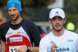 Zwei Geher, ein Ziel: Carl Dohman (links) vom SCL Heel Baden-Baden ist bereits für die Olympischen Spiele in Japan qualifiziert, Nathaniel Seiler vom TV Bühlertal muss noch etwas zittern.