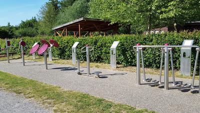 Lußhardt-Generationenpark in Hambrücken, Outdoor-Fitness
