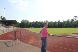 Leonhard Köhler im Waldseestadion des FC Forst