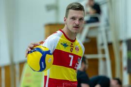 Leon Zimmermann (SSC Karlsruhe) .  GES/ Volleyball/ 2. Bundesliga-Sued: Baden Volleys SSC Karlsruhe - Volleys Leipzig 12.09.2020 --